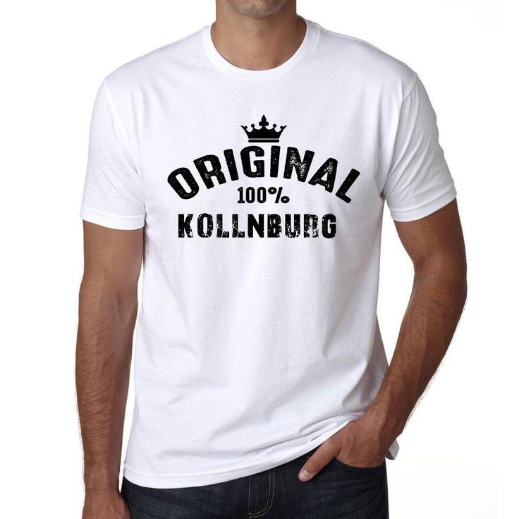 kollnburg, 100% German city white, Men's Short Sleeve Rounded Neck T-shirt