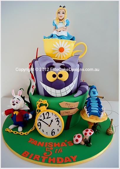 Another Alice in Wonderland cake idea