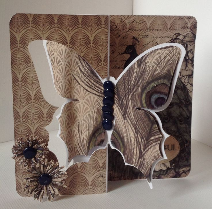 Craftwork Cards Vogue Collection on Butterfly twister card.  Card designed by Hazel Eaton