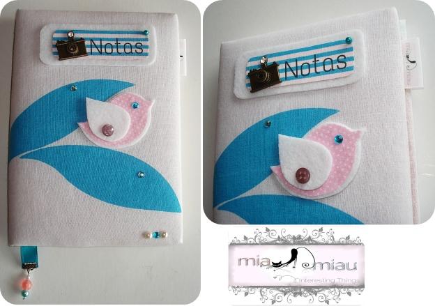 Bloco de Notas forrado a tecido   Ref: #BN003  Contacte miauu.mia@gmail.com