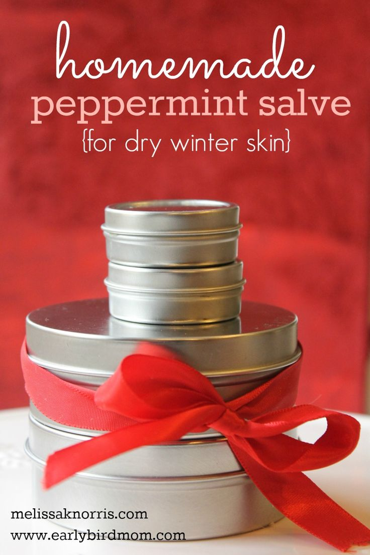 Is you skin so dry it feels like a piece of wood? I refuse to use store bought chemical laden stuff, plus, it never really works, I have to reapply every hour. This Homemade Peppermint Salve for Dry Skin is perfect, nourishing, and easy peasy to make at home. Read this to make sure you've got all your supplies on hand for a great gift, both the guys and ladies on your list.