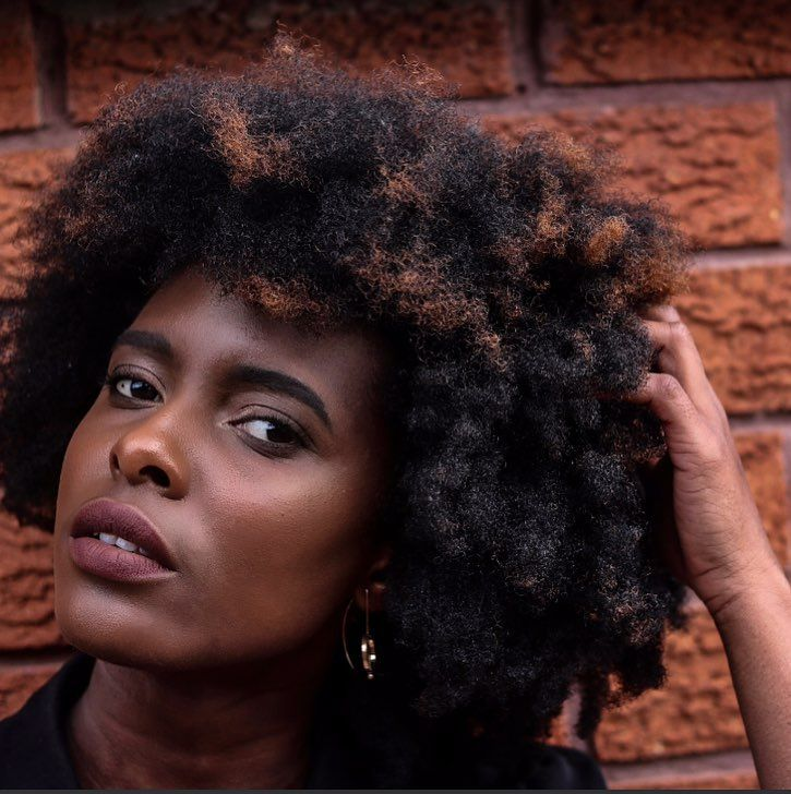 - GILLIAN OKYERE  (@thepurpleclassics) Texture. Afro-texture hair. Afro hair. Kinky hair. Natural hair. Pretty hair. Beautiful hair. Healthy hair. Black women. Black hair care.