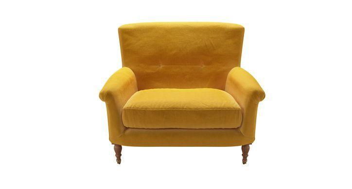 Alderney Loveseat in Butterscotch Cotton Matt Velvet | Velvet Sofas | sofas