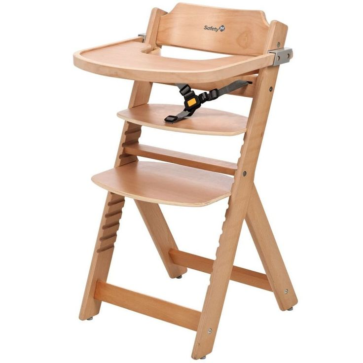 Adjustable Baby High Chair Infant Seat Child Wooden
