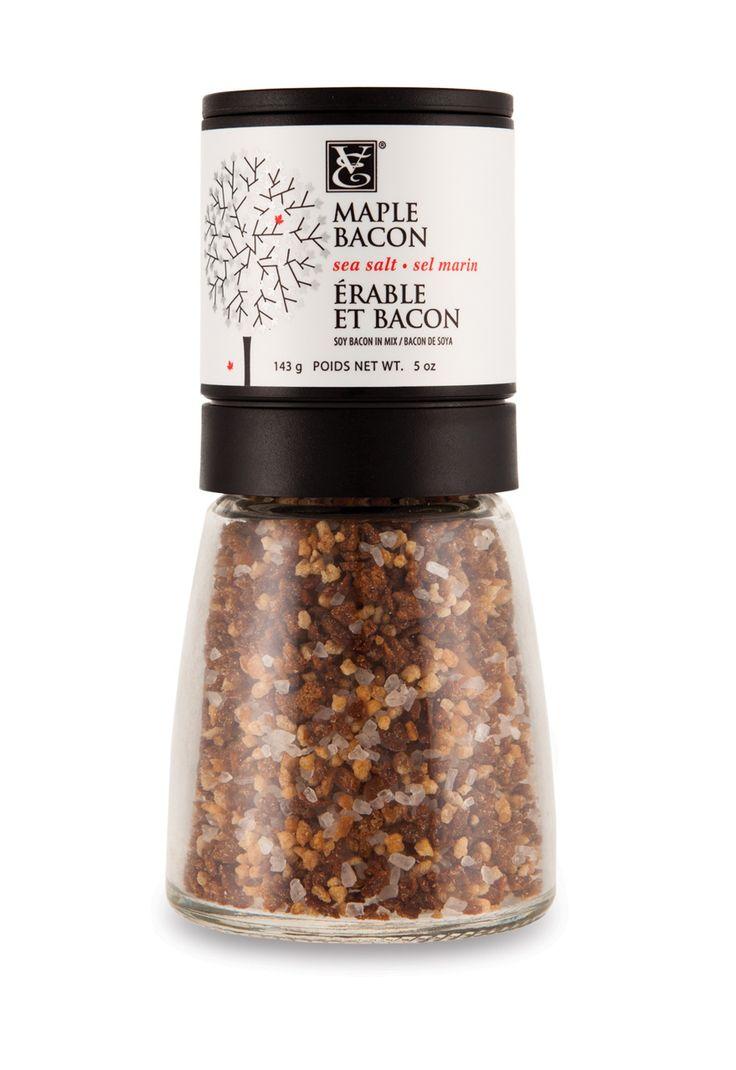 Maple Bacon Sea Salt - It's sweet, salty, smoky, and vegetarian! (Gluten free)