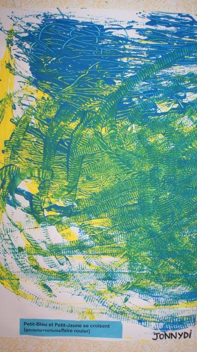 Petit-Bleu et Petit-Jaune, un projet dessin/arts visuels ( PS-MS) - Ecole Bellevue à Gap