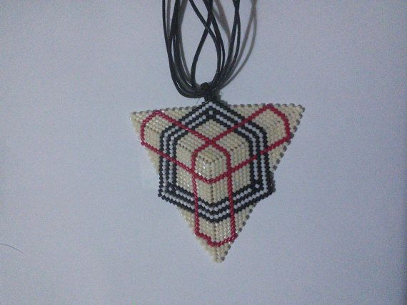 Triangle Patterned Necklace by LunaFelicis on Etsy, $45.00