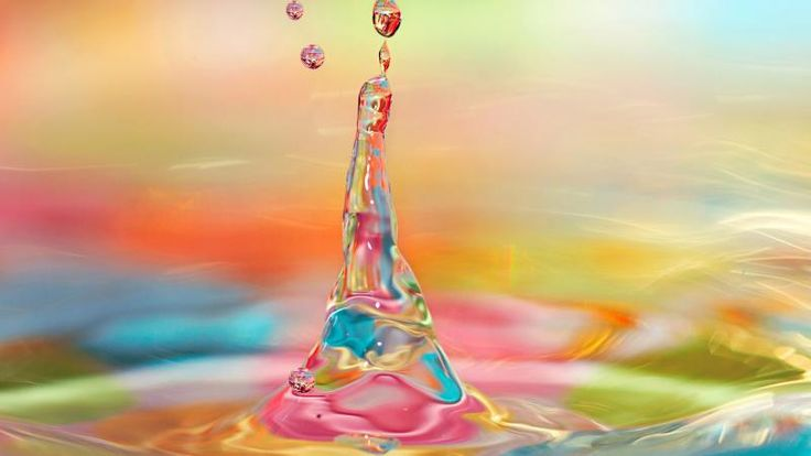 Bright Colorful Water Drops