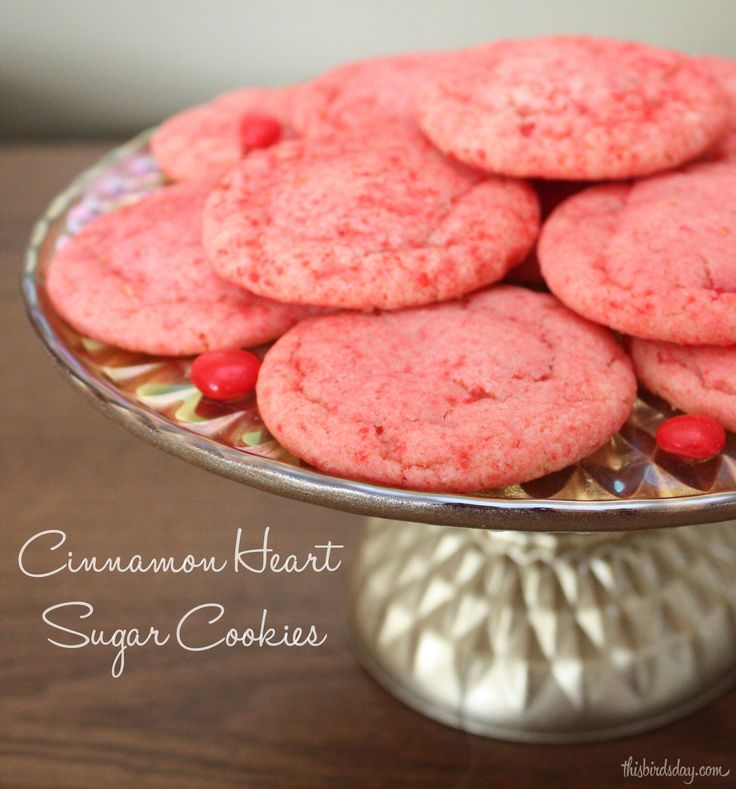 Cinnamon Heart Sugar Cookie Recipe - http://www.thisbirdsday.com/cinnamon-heart-sugar-cookie-recipe/ #Recipe, #ValentinesDay