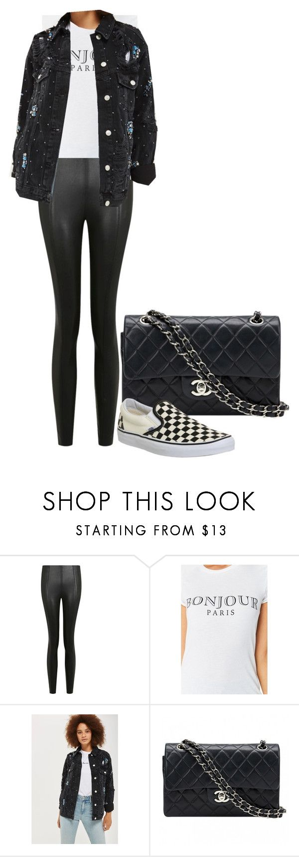 """""""charlotte"""" by kyaneeee on Polyvore featuring Topshop, Chanel and Vans"""