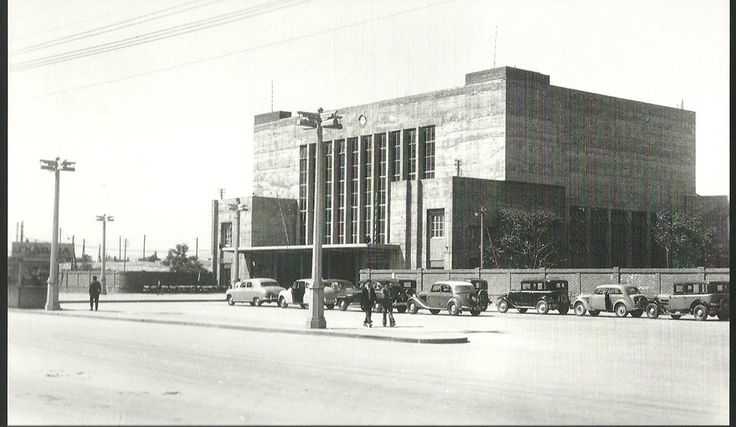 Railway station, Thessaloniki, 1956
