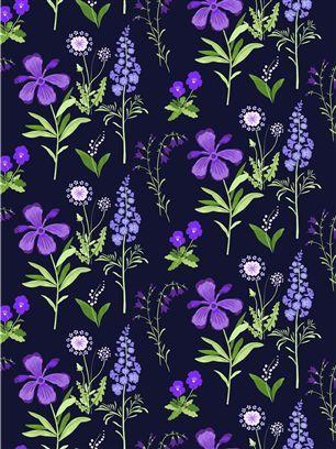 Vallila Kissankello 4 blue curtain panel - Shannon Furniture