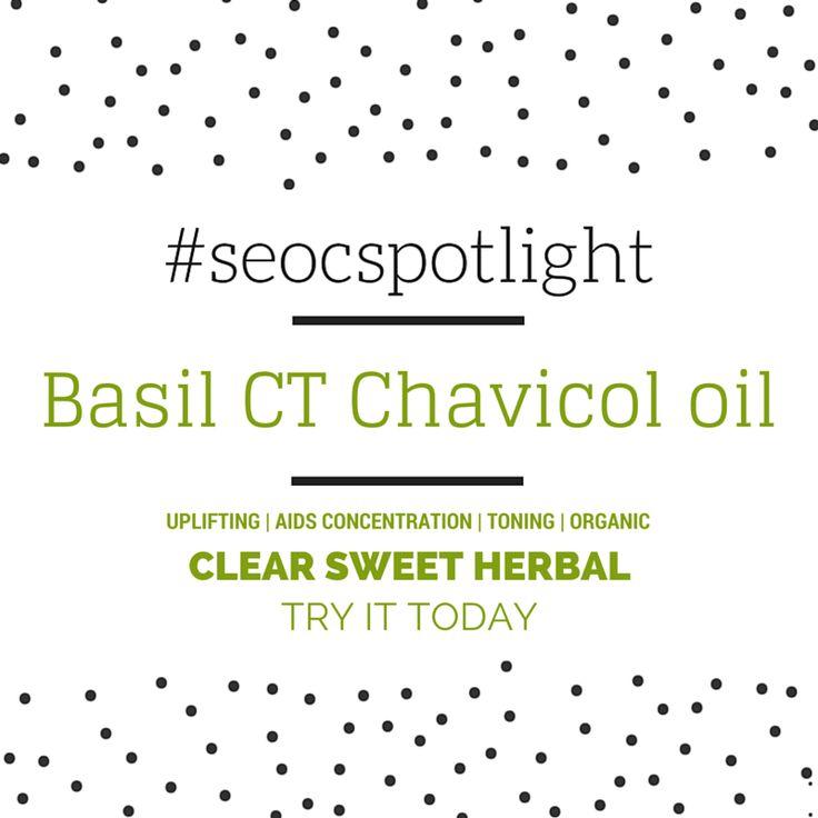 #SEOCSpotlight | Basil CT Chavicol Oil India – Certified Organic | New Essential Oil | Online at www.seoc.com.au