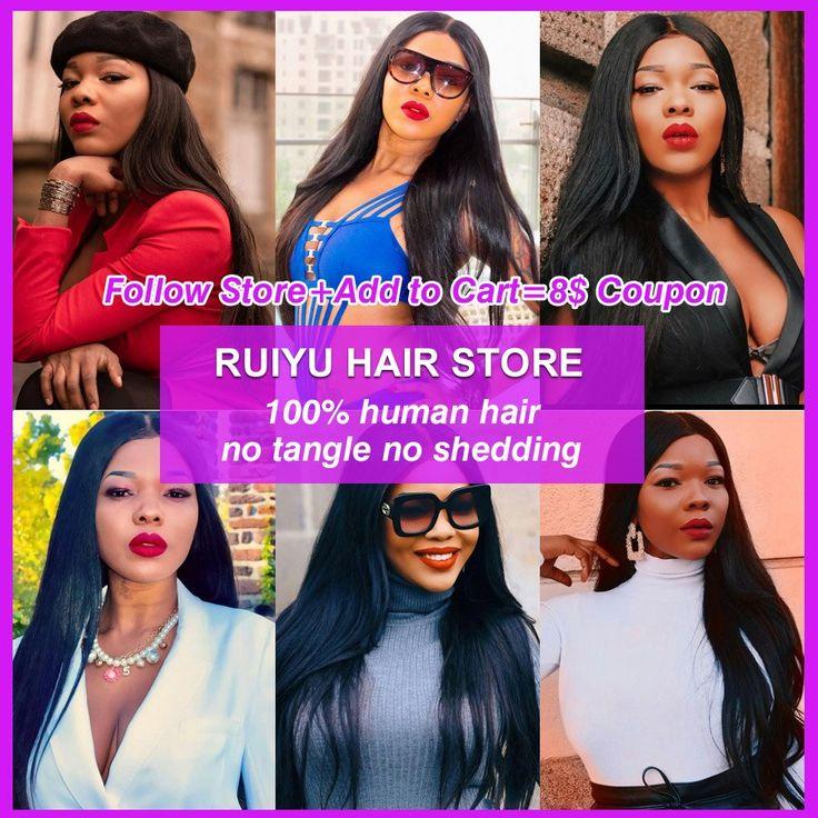 RUIYU Hair Peruvian Straight Hair Bundles Human Ha…