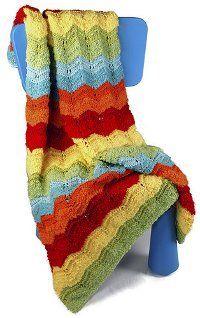 Rainbow Lace Afghan | AllFreeKnitting.com