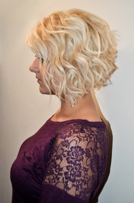 Cute Curly Inverted Bob Hairstyles