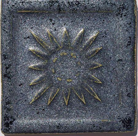 Handmade Ceramic Decorative Tile - Mexico in Baikal by DeKa Ceramic Tiles