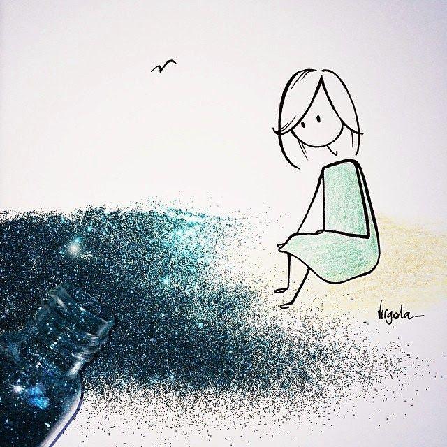 { Le coccole creative }: @Virgola_ l'artista della poesia silenziosa