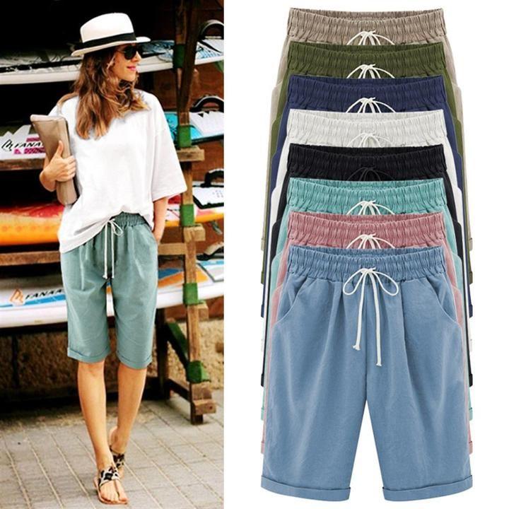 2018 Summer Women Casual Loose Harajuku Pants Capris Streetwear