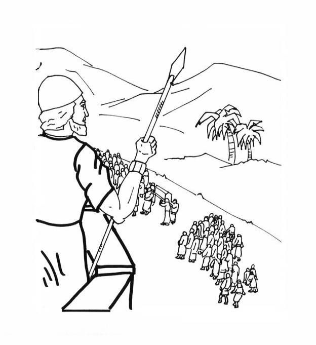free bible coloring pages joshua - photo#11