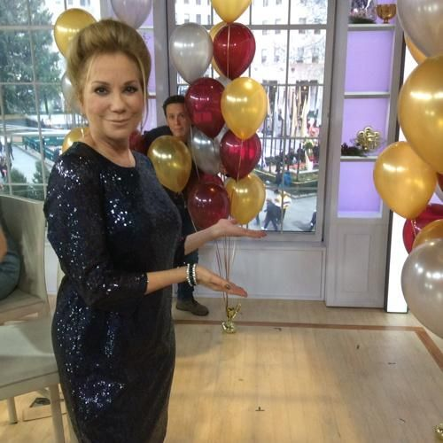 Check out Kathie Lee in Donna Morgan! Fabulous!