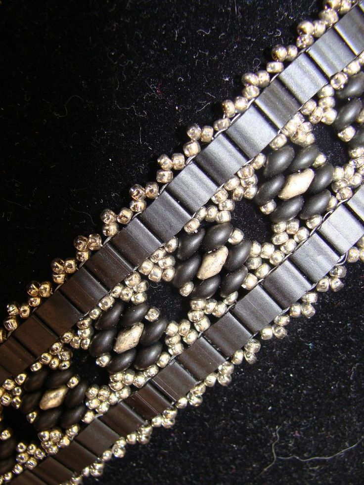 HAND CRAFTED BRACELET WITH TILAS, SUPER DUO'S, SEED BEADS