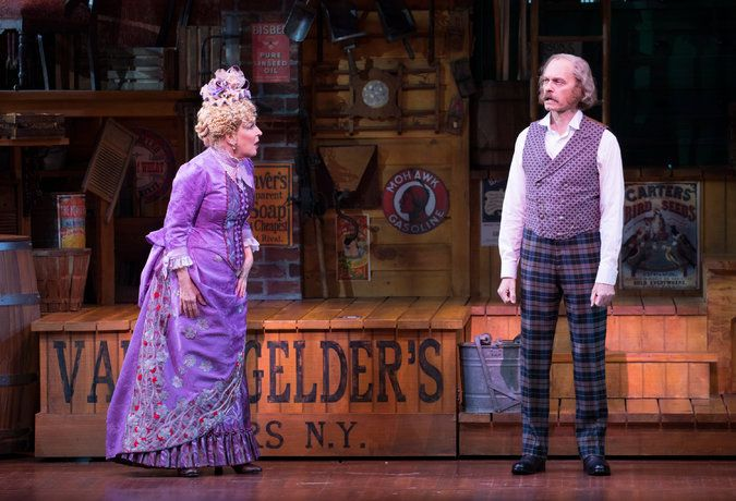 "Bette Midler, left, as Dolly Gallagher Levi, sets her sights on David Hyde Pierce, as the wealthy widower Horace Vandergelder, in ""Hello, Dolly!"" Credit Sara Krulwich/The New York Times"
