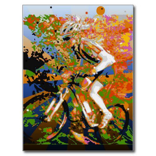 Cross country mountain bike cyclist mug. #psychadelic #cross #country #moutain #biker #gifts #biking #bike #moutains #cycling #tshirts #accessories #design #art