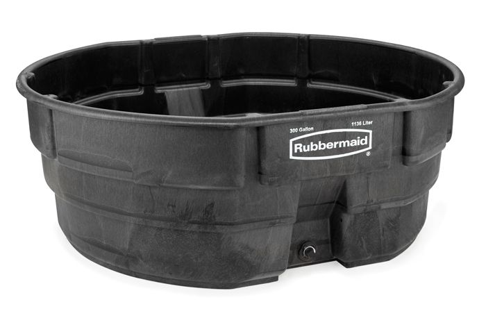 The Rubbermaid Stock Tank features a heavy duty, structural foam construction with reinforced ribbing at the base for added strength. The seamless design prevents leaking and cracking and provides superior performance in all kinds of weather. With an oversized drain plug, this 300 gallon stock tank is easy to clean and drain. Seamless construction for …