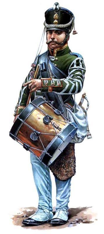 The drummer of the regiment 49 1812 jegrów Fig. E. Yezhov.