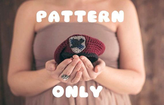 Crochet Army Beret PATTERN www.nahvrianna.etsy.com