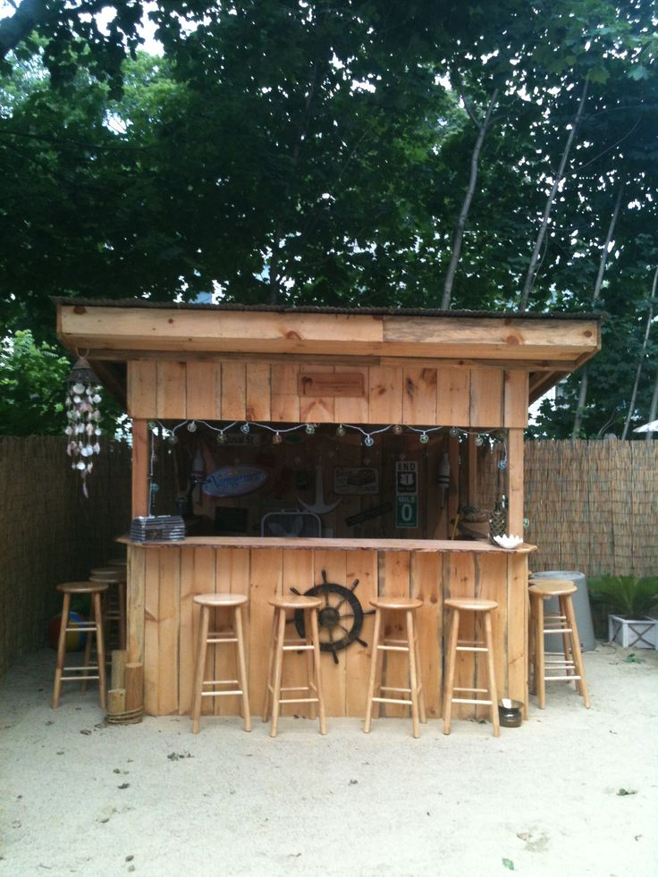 98 best backyard beach tiki bar ideas images on for Beach bar decorating ideas