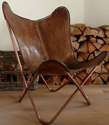 LEATHER-BUTTERFLY-HAND-MADE-CHAIR-GENUINE-COW-LEATHER-HAND-MADE
