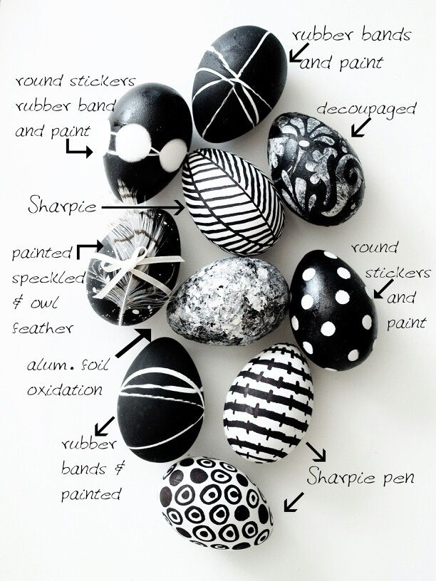 Black and white Easter egg idea