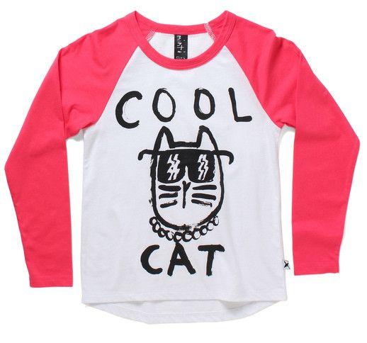 Minti Cool Cat Girls Raglan L/S Top