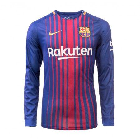 Barcelona Hjemmebanetrøje 17-18 Lange ærmer
