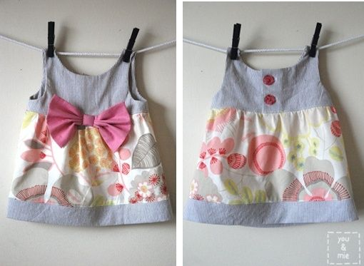 Cute diy baby girl dress
