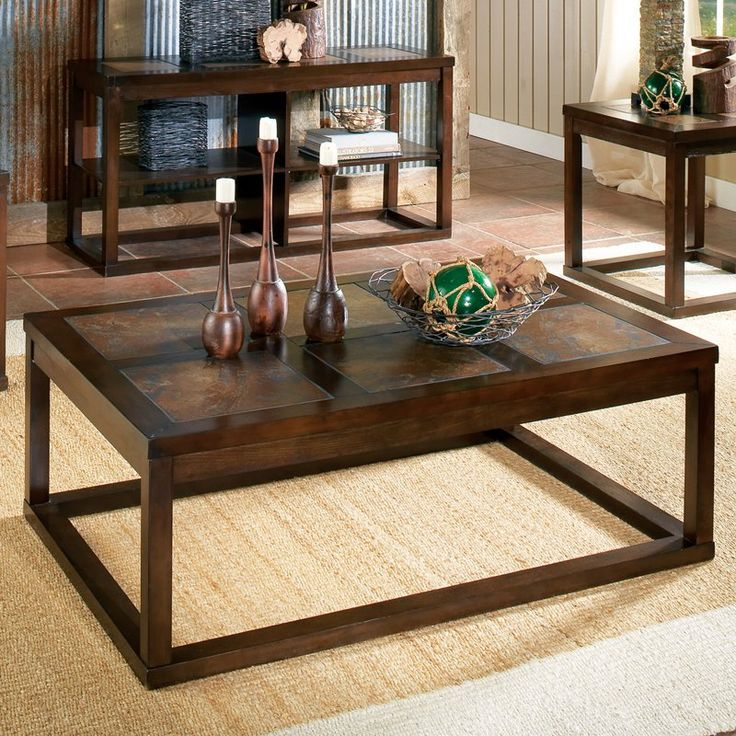 Steve Silver Alberto Rectangle Cherry Wood Coffee Table | From Hayneedle.com Part 53