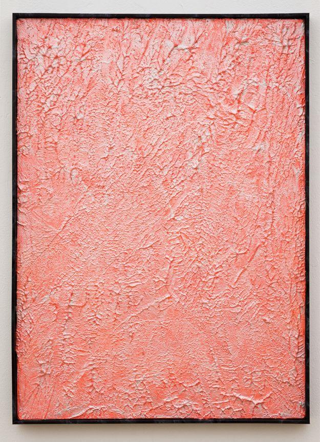 heathwest:  Roman LiškaUntitled (Mars II),2012Pigment, acrylic texturizer and lacquer on canvas85x61cm