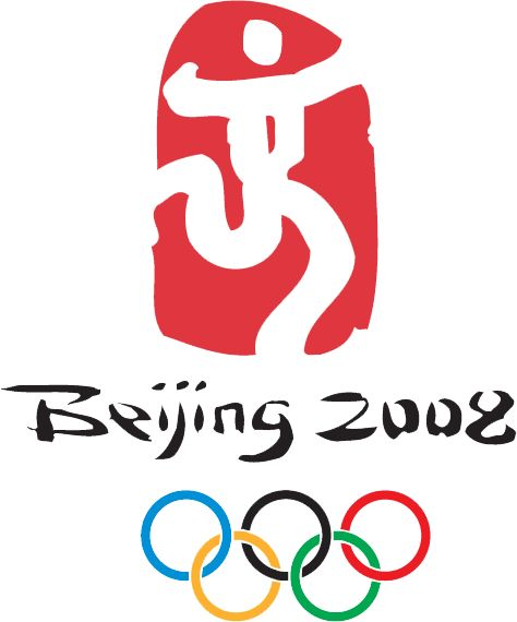 2008 Beijing Olympics Logo - A dancing man, based on the Chinese character for 'capital' (SportsLogos.Net)