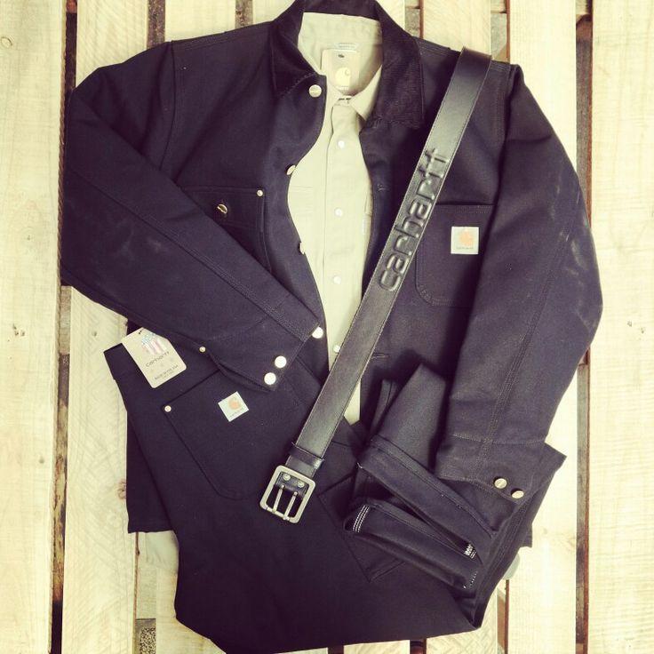 Carhartt blanket lined Chore Coat, Carhartt Double front logger Pant, Carhartt Ironwood Twill work shirt