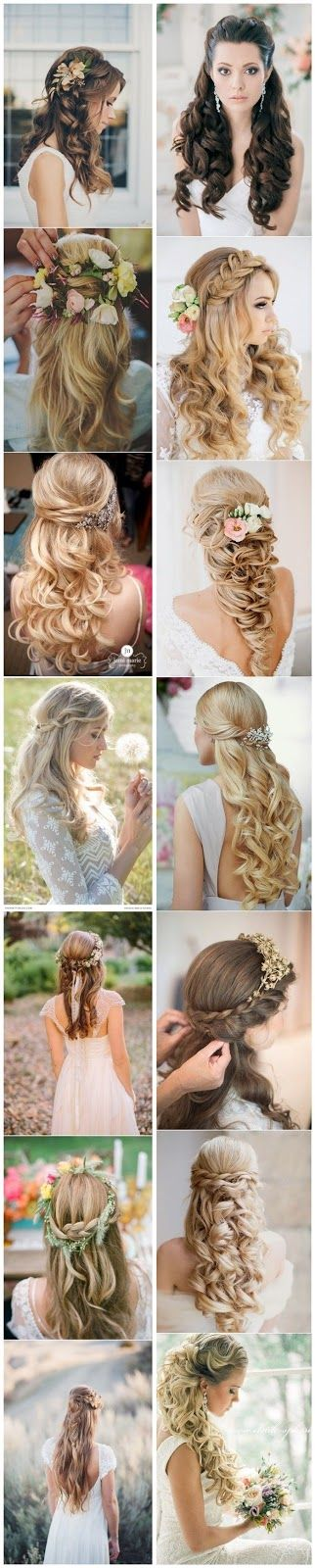 Awesome HairStyles  http://myawsomeoutfits.blogspot.pt/2015/07/15-stunning-half-up-half-down-wedding.html