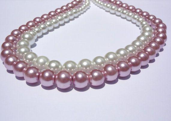 Necklace.Pearl Necklace.Wedding Jewelry. by StunningGemsJewelry