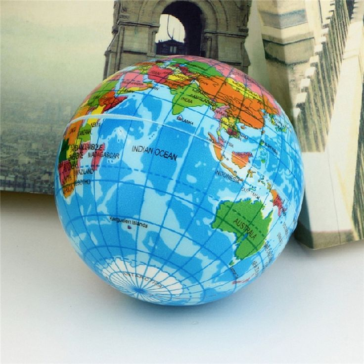 Funny Brief Earth Globe Stress Relief Bouncy Foam Ball Planet World Map Foam Stress Relief Bouncy Press Ball Geography Toy