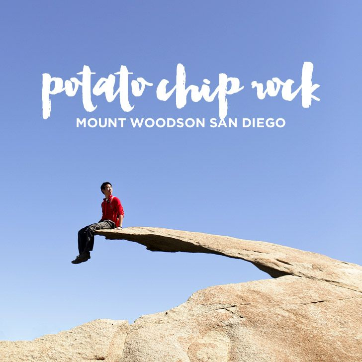Since we've moved to San Diego, we're crossing off all the popular hikes in the area, and on Mount Woodson is the iconic Potato Chip Rock hike.