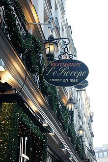 Café Procope, in rue de l'Ancienne Comédie, 6th arrondissement, is called the oldest restaurant of Paris in continuous operation.