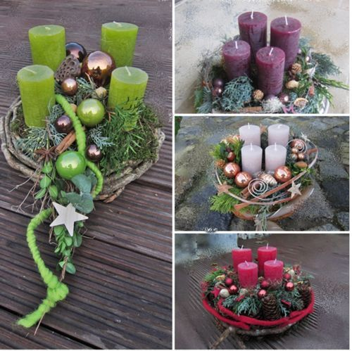 Wreath fresh or preserved, model choice, choice of colour Blitzversand 24 hours