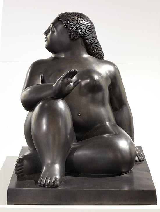'Mujer Sentada 3' (Sitting Woman 3) by Colombian artist Fernando Botero (b.1932). via Folha de S.Paolo