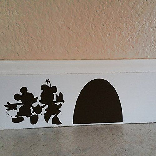 mickey and minnie mouse hole wall decal wall sticker home disney housevinyl designsvinyl - Wall Vinyl Designs