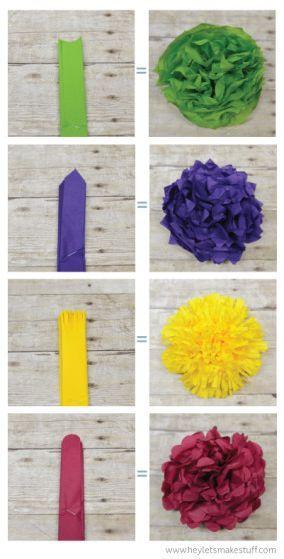 Flores de papel de seda                                                                                                                                                      Más